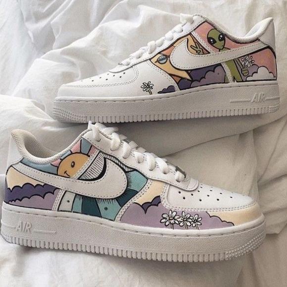 Custom painted Nike's